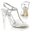 CLEARLY-426 Clear/Silver Faux Leather